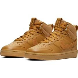 Buty Nike Court Borough Mid 2 Boot Jr BQ5440-700 brązowe