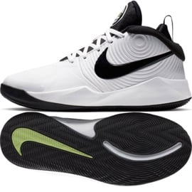 Buty Nike team Hustle D 9 (GS) Jr AQ4224-100 białe białe