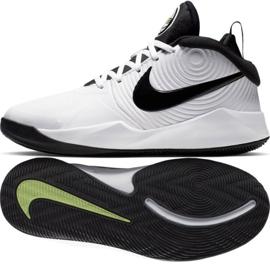 Buty Nike team Hustle D 9 (GS) Jr AQ4224-100 białe biały