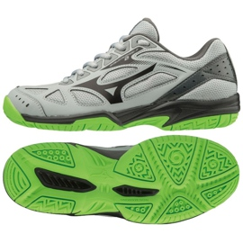Buty Mizuno Cyclone Speed 2 Jr V1GD191037 szare szary/srebrny