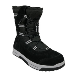 Buty zimowe Timberland Snow Stomper Pull On Wp Jr A1UIK czarne