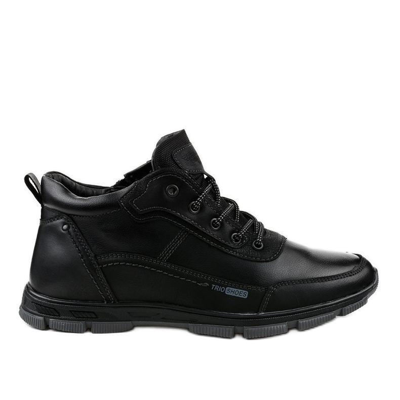 Czarne obuwie trekkingowe R7163-1