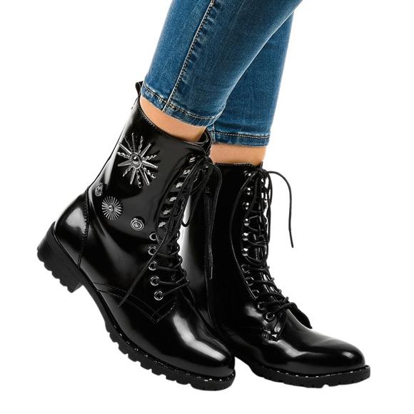 Czarne botki workery SA8023
