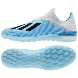Buty piłkarskie adidas X 19.1 Tf M F99999 niebieskie biały