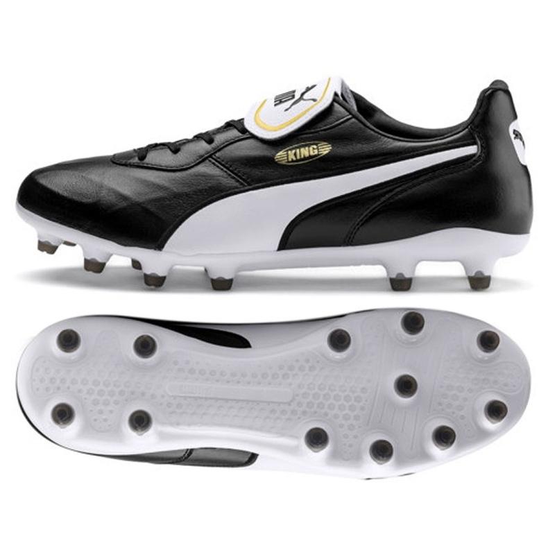 Buty piłkarskie Puma King Top Fg M 105607 01 czarne czarne