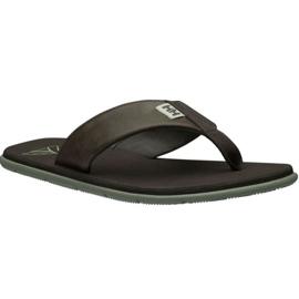 Klapki Helly Hansen Seasand Leather Sandal M 11495-713 brązowe