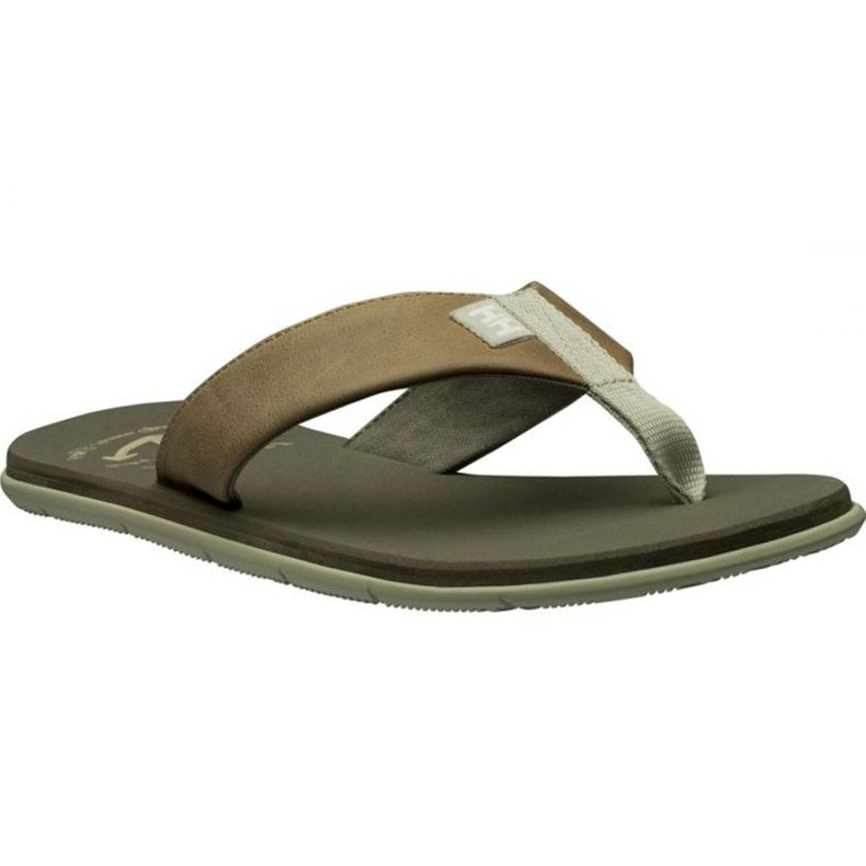 Klapki Helly Hansen Seasand Leather Sandal M 11495-723 brązowe
