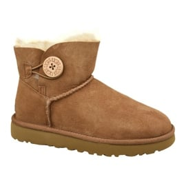 Buty Ugg Mini Bailey Button Ii W 1016422-CHE brązowe