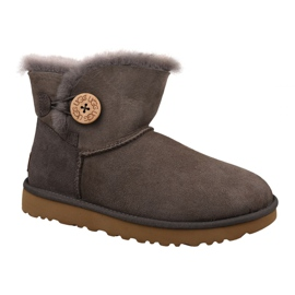 Buty Ugg Mini Bailey Button Ii W 1016422-MOLE brązowe