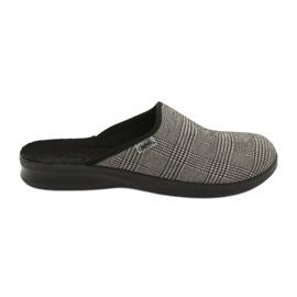 Befado obuwie męskie pu 548M021 beżowy czarne