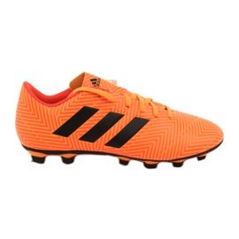Buty piłkarskie adidas Nemeziz 18.4 FxG M DA9594 pomarańczowe