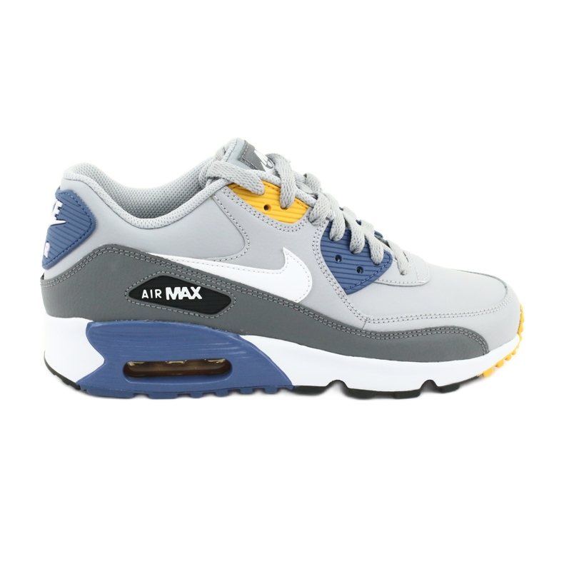Buty Nike Air Max 90 Ltr Gs Jr 833412-026 białe niebieskie szare