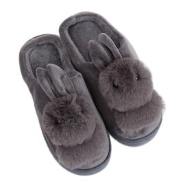 Kapcie damskie króliczki szare MA01 Grey