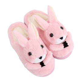 Kapcie damskie króliczki jasny róż MA17 Pink różowe