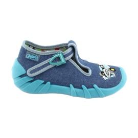 Befado obuwie dziecięce 110P320 niebieskie