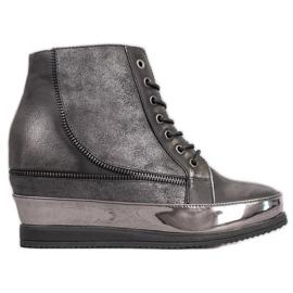 Sergio Leone Srebrne Sneakersy szare