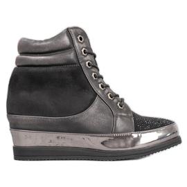 Sergio Leone Sneakersy Z Kryształkami czarne