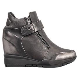 Sergio Leone Sneakersy Na Suwak szare