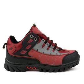 Czerwone damskie buty trekkingowe W317