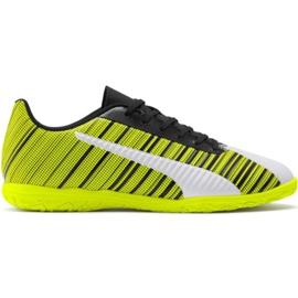 Buty piłkarskie Puma One 5.4 It M 105654 04 biały, czarny, żółty