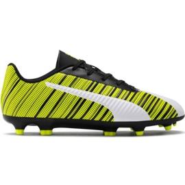 Buty piłkarskie Puma One 5.4 Fg Ag Jr 105660 03 biały, czarny, żółty