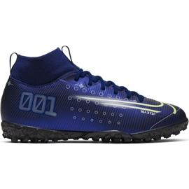Buty piłkarskie Nike Mercurial Superfly 7 Academy Mds Tf Jr BQ5407 401 granatowe granatowy