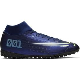 Buty piłkarskie Nike Mercurial Superfly 7 Academy Mds Tf M BQ5435 401 niebieski granatowe