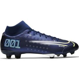 Buty piłkarskie Nike Mercurial Superfly 7 Academy Mds FG/MG M BQ5427 401 niebieskie niebieski