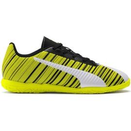 Buty piłkarskie Puma One 5.4 It Jr 105664 04 biały, czarny, żółty żółte