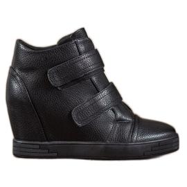 Sergio Leone Sneakersy Z Eko Skóry czarne