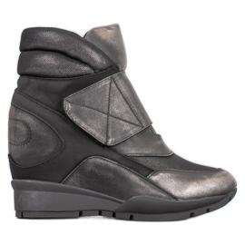 Sergio Leone Sneakersy Na Rzep szare
