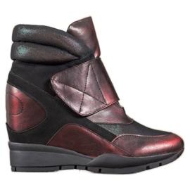 Sergio Leone Sneakersy Na Rzep czerwone