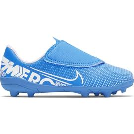 Buty piłkarskie Nike Mercurial Vapor 13 Club Mg PS(V) Jr AT8162 414 niebieski niebieskie