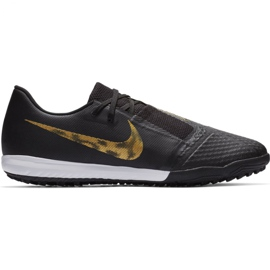 Buty piłkarskie Nike Nike Phantom Venom Academy M Tf AO0571 077 czarny, złoty czarne