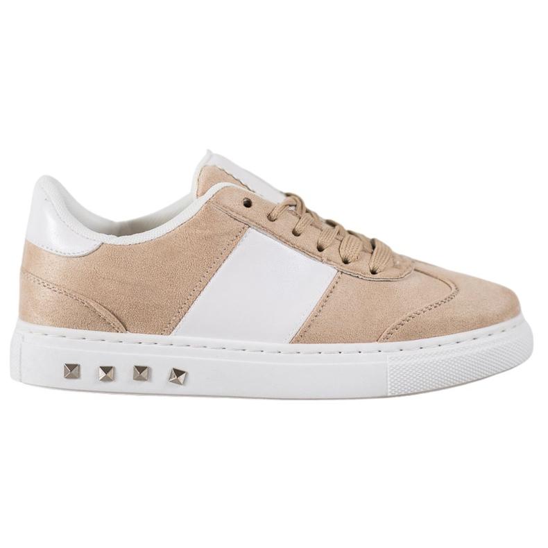 Emaks Sneakersy Z Dżetami brązowe