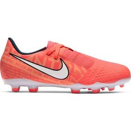 Buty piłkarskie Nike Phantom Venom Academy Fg Jr AO0362 810 pomarańczowe pomarańczowe