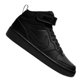 Buty Nike Jr Court Borough Mid 2 (GS) Jr CD7782-001 czarne
