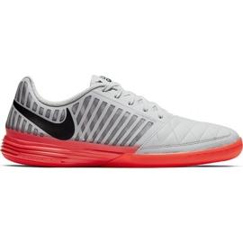 Buty piłkarskie Nike LunarGato Ii 580456 060 biały, czerwony, szary/srebrny szare