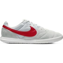 Buty piłkarskie Nike Premier Ii Sala Ic AV3153 M 061 biały, czerwony szare