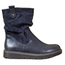 Ideal Shoes Workery Na Platformie niebieskie