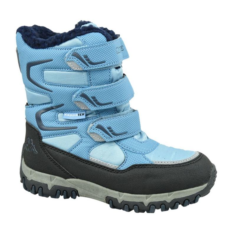 Buty zimowe Kappa Great Tex Jr 260558T-6467 niebieskie