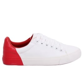 Trampki damskie biało-czerwone A88-29 W-RED Ii Gatunek