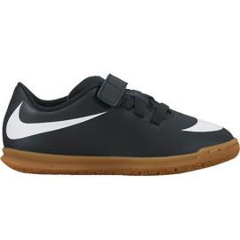 Buty piłkarskie Nike Bravata X Ii Ic Jr 844439 001 czarne biały, czarny