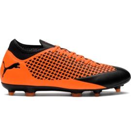 Buty piłkarskie M Puma Future 2.4 Fg Ag 104839 02 pomarańczowe czarny, pomarańczowy