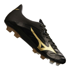 Buty piłkarskie Mizuno Rebula 2 V1 Made in Japan Fg P1GA187-950 czarne czarny, złoty
