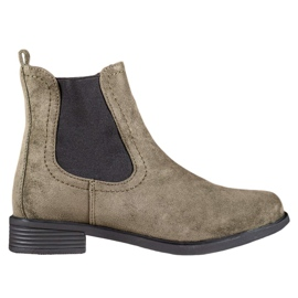 Ideal Shoes Casualowe Sztyblety zielone