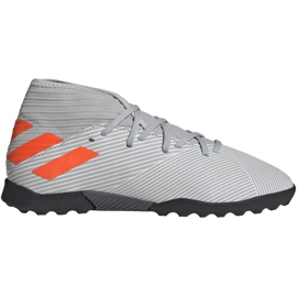 Buty piłkarskie adidas Nemeziz 19.3 Tf Jr EF8303 szare wielokolorowe
