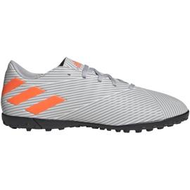 Buty piłkarskie M adidas Nemeziz 19.4 Tf EF8294 szare pomarańczowy, szary/srebrny