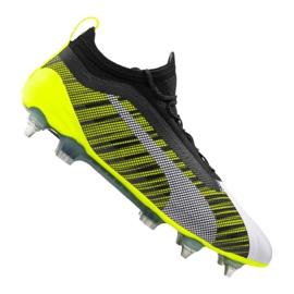Buty piłkarskie Puma One 5.1 Mx Sg Fg M 105615-02 biały, czarny, żółty wielokolorowe