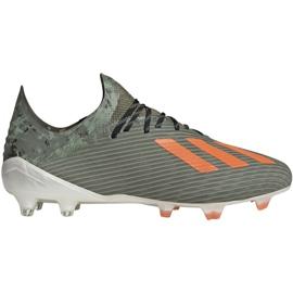 Buty piłkarskie adidas X 19.1 M Fg EF8296 zielone zielone